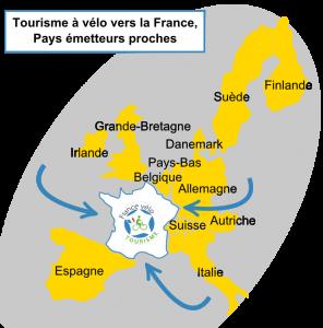 Mapa Cicloturisme a França