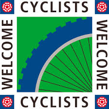 cyclist welcome