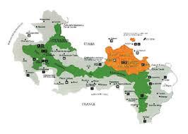 mapa Mercantour Alpi Marittime